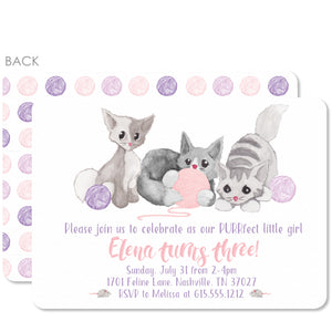 Watercolor Kitten Invitations | Swanky Press