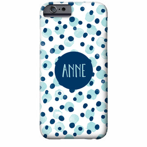Personalized Water Color Scatter Dots iPhone Case | Swanky Press