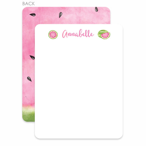 Watermelon Party Flat Notecard | Swanky Press | Pink