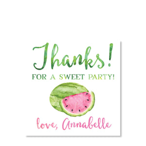 Watermelon Favor Tags | Swanky Press (front view)