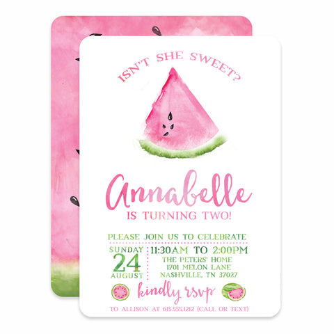 Watermelon Birthday Invitation (Printed)