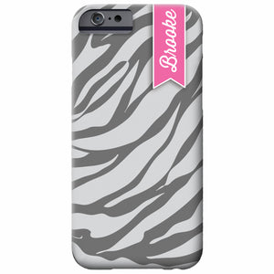 Personalized White Tiger iPhone Case | Swanky Press