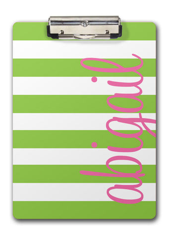 Wide Stripes Clipboard with Name | Swanky Press