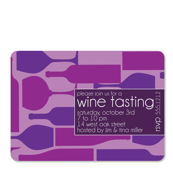 Wine Tasting Party Invitation | Swanky Press (front view)