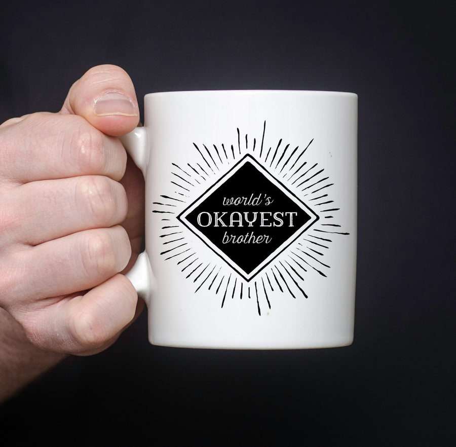 World's Okayest brother coffee mug, PIPSY.com, funny mug