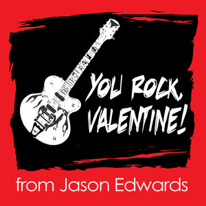 You rock in red and black Valentine's Day gift tags