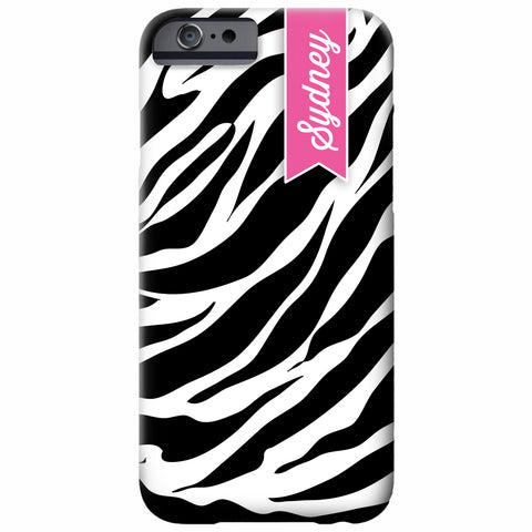 Personalized Zebra iPhone Case | Swanky Press