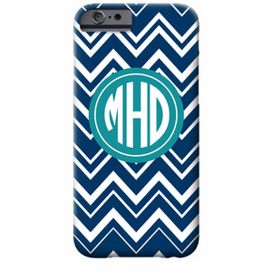 Monogrammed Zig Zag iPhone Case | Swanky Press