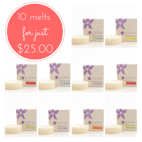 10 Large Soy Melts for just $25.00