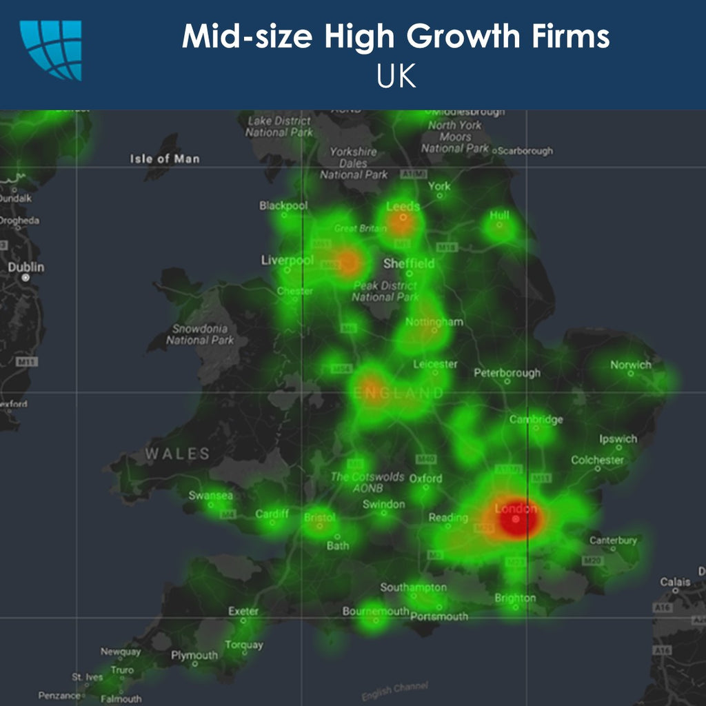 Mid-size High Growth Firms, UK, 2017