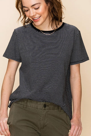 Basic Black + White Stripe Top