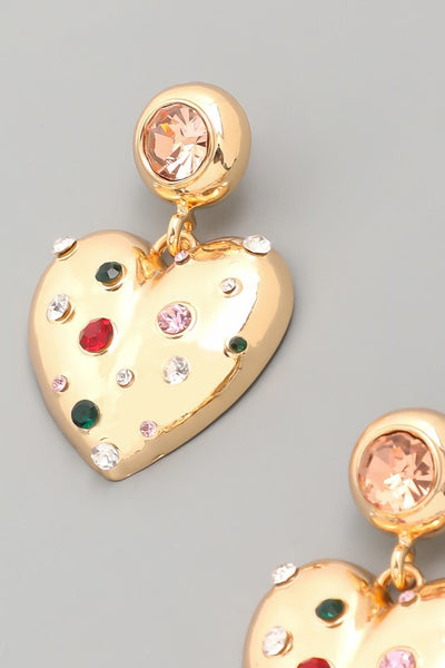 Heart Earrings - Muti colored
