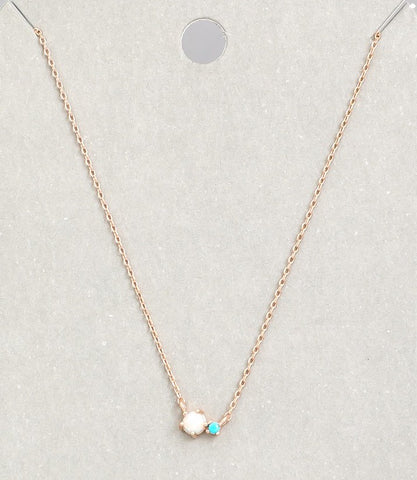 Duo Necklace - Rose gold