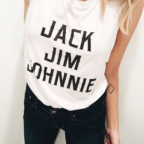 Jack Jim Johnnie Muscle Tank