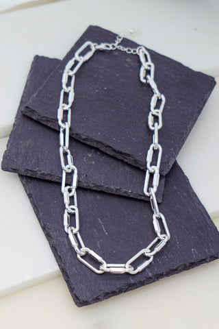 Charles Chain Necklace - Gold + Silver