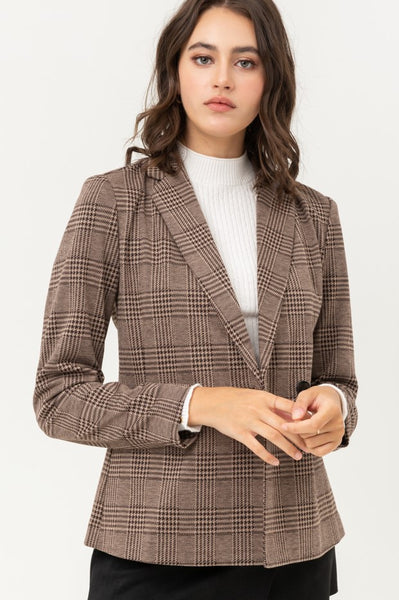 Heidi Plaid Blazer