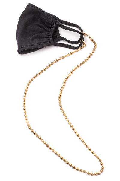 Ball Bead Chain Link Mask Necklace