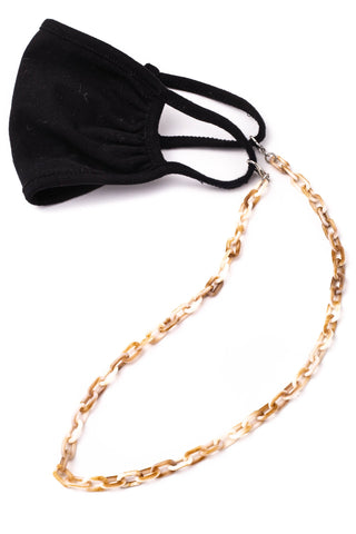 Acetate Mask Chain - Brown Marble