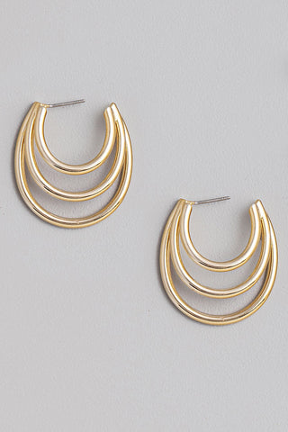 Triple Layered Hoop Earrings