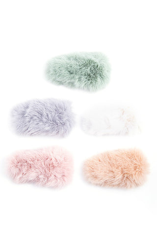 Faux Fur Hair Clips
