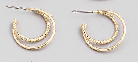 Double Layer Hoop Earring