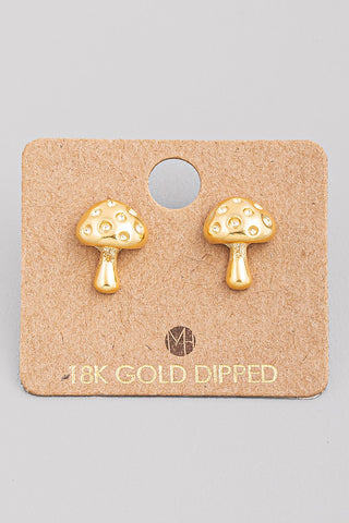 Mini Mushroom Stud Earrings