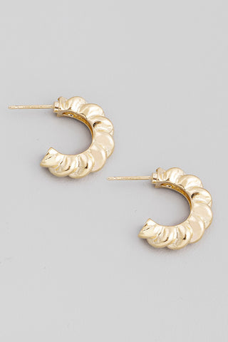 Hailey Gold Hoop Earrings