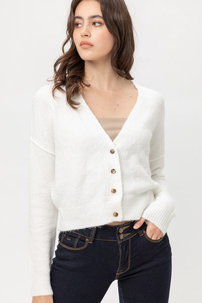 Jennifer Cardigan Sweater - White