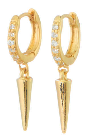 Loren Huggie Earrings - Gold
