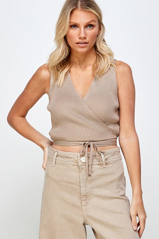 Briana Knit Wrap Top