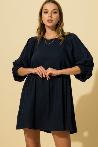 Betsy Dress - Navy