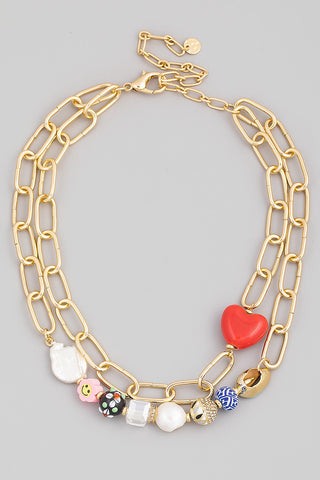 Lonely Heart Chunky Necklace