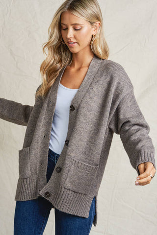 Blake Cardigan Sweater - Grey