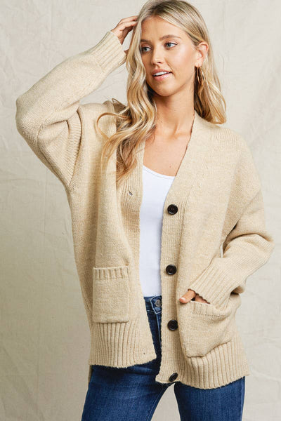 Blake Cardigan Sweater - Oatmeal
