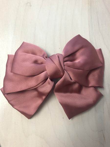Hair Bow - Mauve