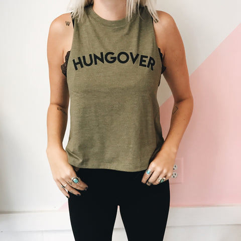 Hungover Tank - Olive Green