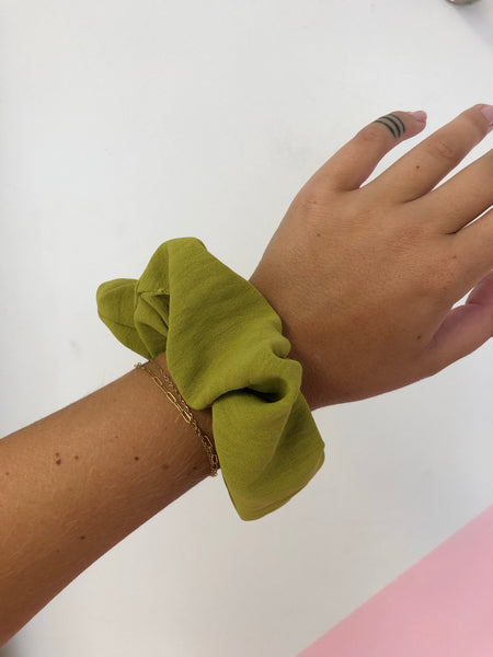 Chartreuse Scrunchie