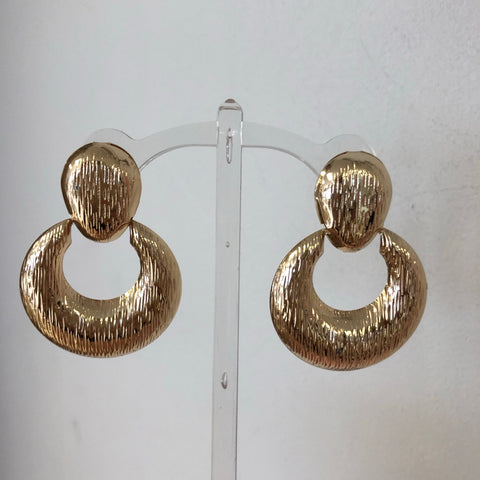 Door Knocker Earrings - Gold