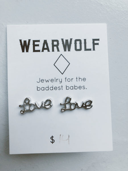 Love Earrings - Silver