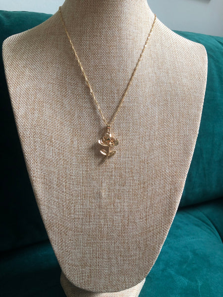 Flower Necklace - Gold