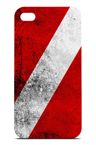 Diver Down Flag Destroyed - Slim Phone Case - Apple iPhone 4 / 4S