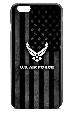 United States Air Force Logo over Grayscale American Flag Background - Tough Phone Case - Apple iPhone 6 / 6S