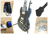 Haze SG Electric Guitar Vintage Double Cutaway,Dark Green w/Free Gig Bag. 275TGR