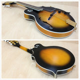 Caraya MA-007EQ F-Style Mandolin,Dark Sunburst, w/EQ+Free gig bag,3 Picks