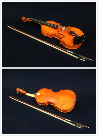 Handmade Kapok V888 Premium 1/4 Size Solid Wood Violin Pack-Foam Case,Rosin,Bow