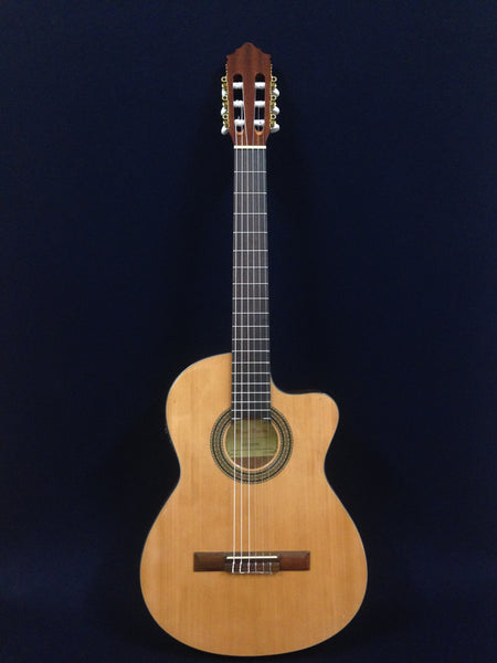 Miguel Rosales C-3BCEQ/SM Thin Body Solid Spruce Top Classical Guitar,Fishman EQ