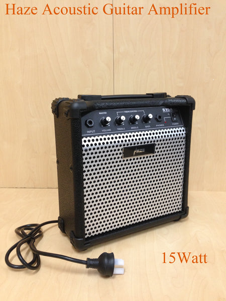 Brand New Haze 15Watt Acoustic Guitar Amplifier S15A, Black
