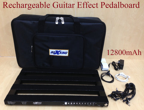12800mAh Rechargeable BoxKing PB4828A Guitar Effect Pedalboard+Padded Carry Bag