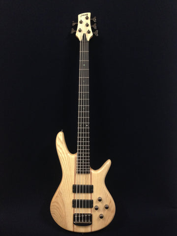 Haze B-337N 5-String Electric Bass Guitar,Pre-Amp,Natural Matt, w/Free gig bag