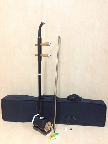 Chinese 2-stringed Fiddle,Erhu, Solid Timber Body,Neck + Foam Case, Extra String